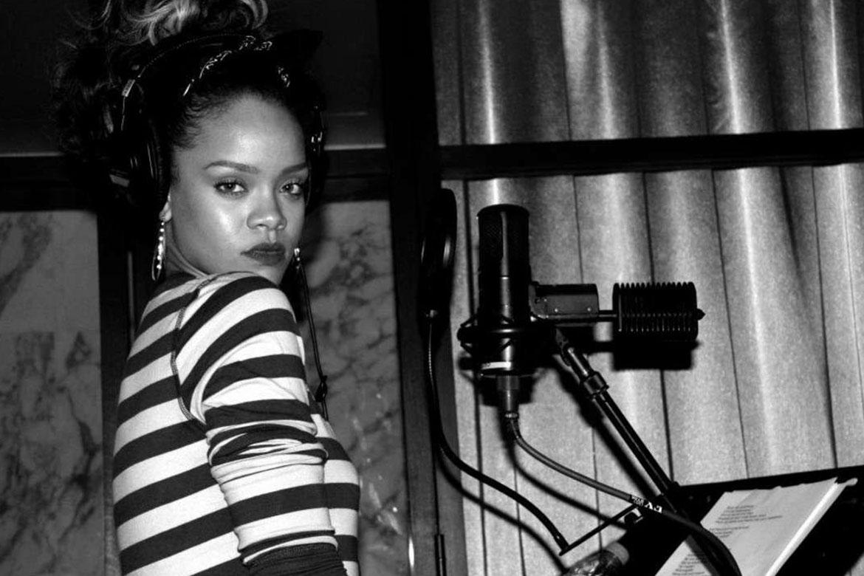 Rihanna'nın son single çalışması ve Stüdio anları
