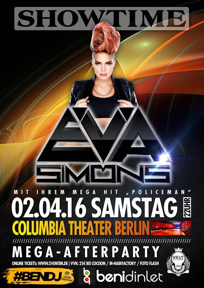 Eva Simons Almanya konser organizasyonu için gün sayıyor !